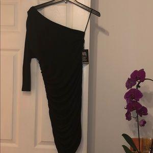 Express One Shoulder Scrunch Dress (Brand new!)